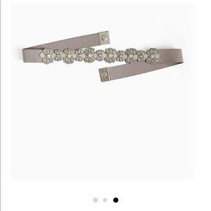 New Torrid Silver Multi-bead Floral Stretch Belt